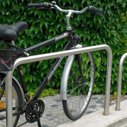 EDELSTAHL Radparker Anlehnbügel RUND, auch pulverbeschichtet verfügbar