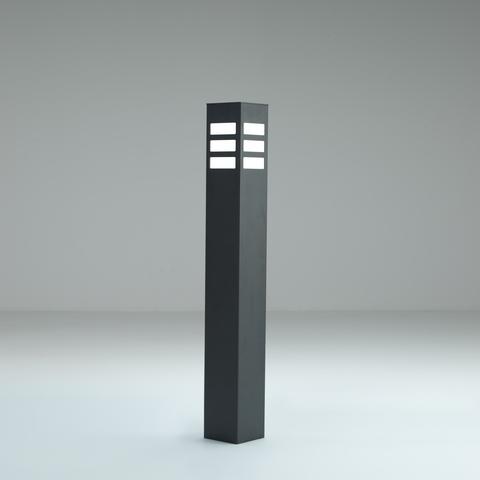 EDELSTAHL Poller ECKIG Licht-Design, LED Beleuchtung