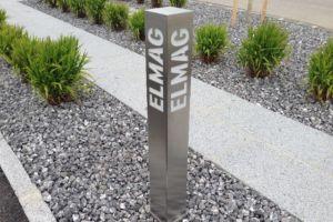 Poller ECKIG Logo-Design - ELMAG